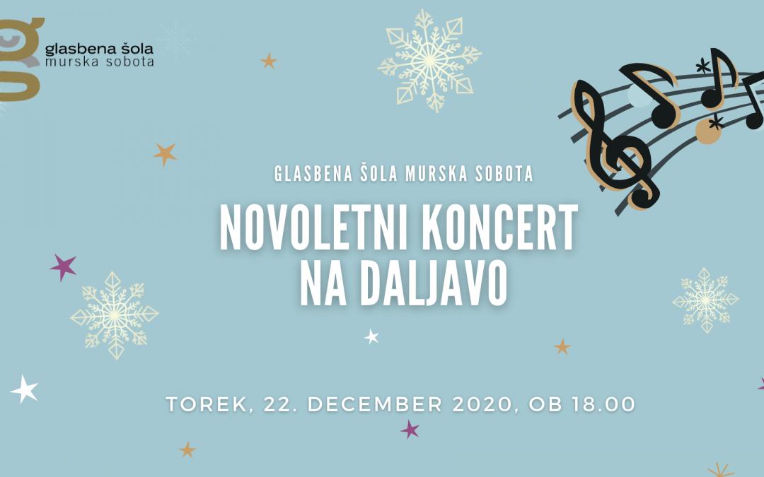 Novoletni koncert na daljavo učencev GŠ Murska Sobota