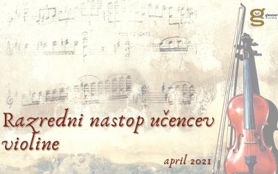 Razredni nastop učencev violine