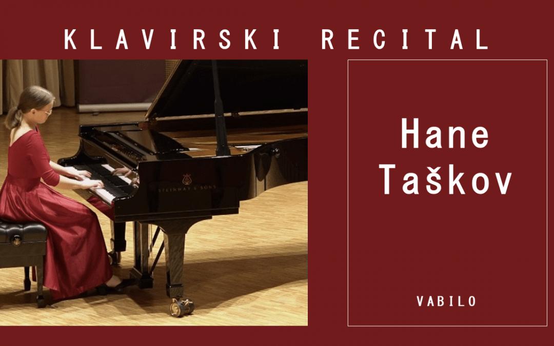 Klavirski recital Hane Taškov