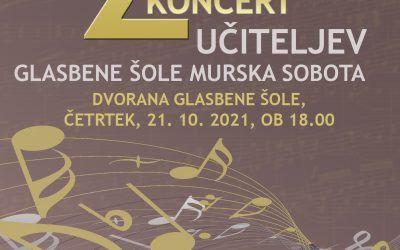 1. koncert šolskega abonmaja – 25. koncert učiteljev GŠ Murska Sobota